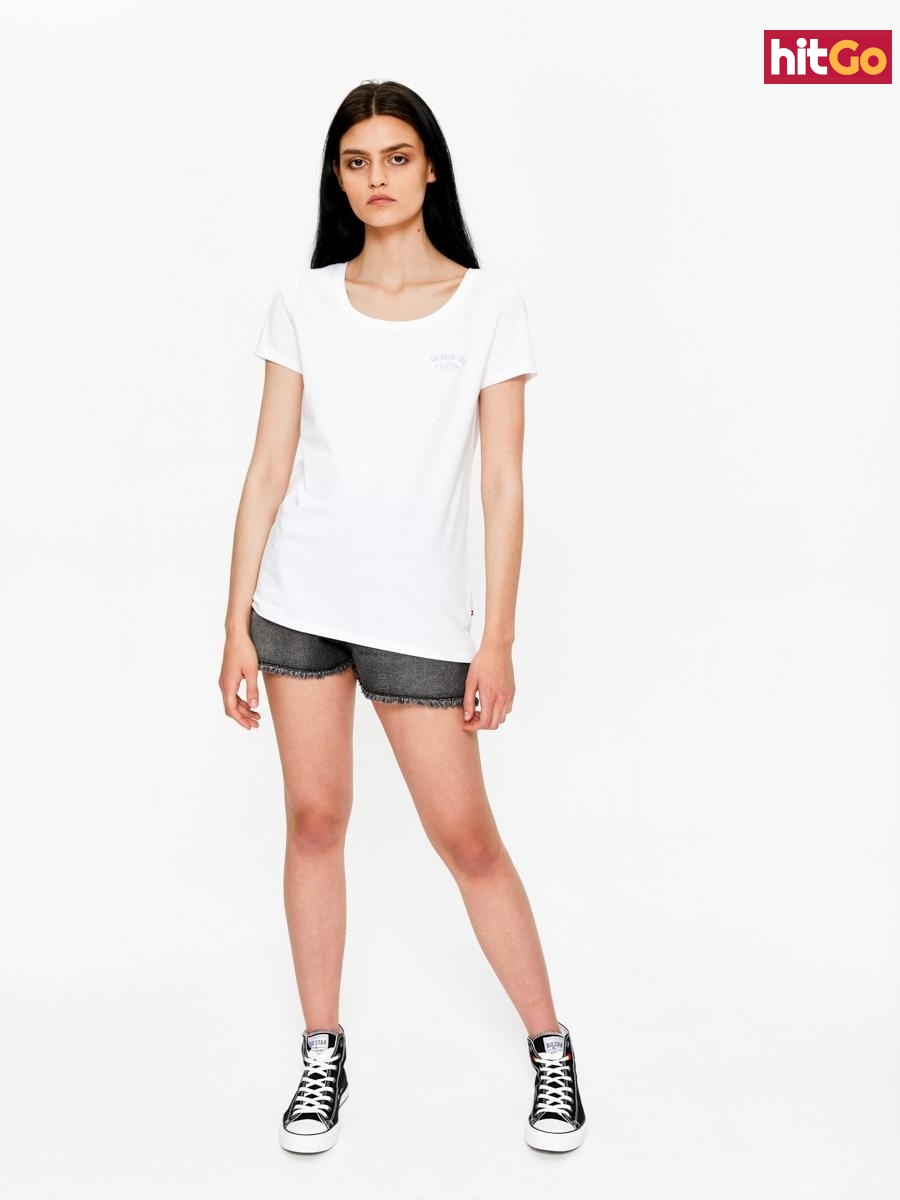 Big Star Womans Shortsleeve T-shirt 158788 -110 dámské White M