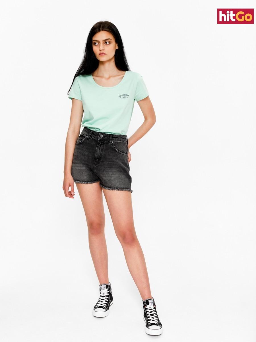 Big Star Womans Shortsleeve T-shirt 158788 -315 dámské Green XL