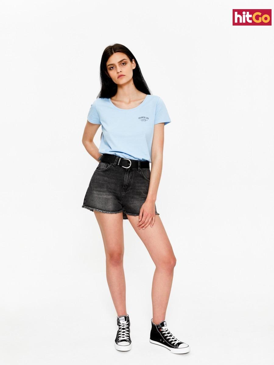 Big Star Womans Shortsleeve T-shirt 158788 -416 dámské Blue XXL