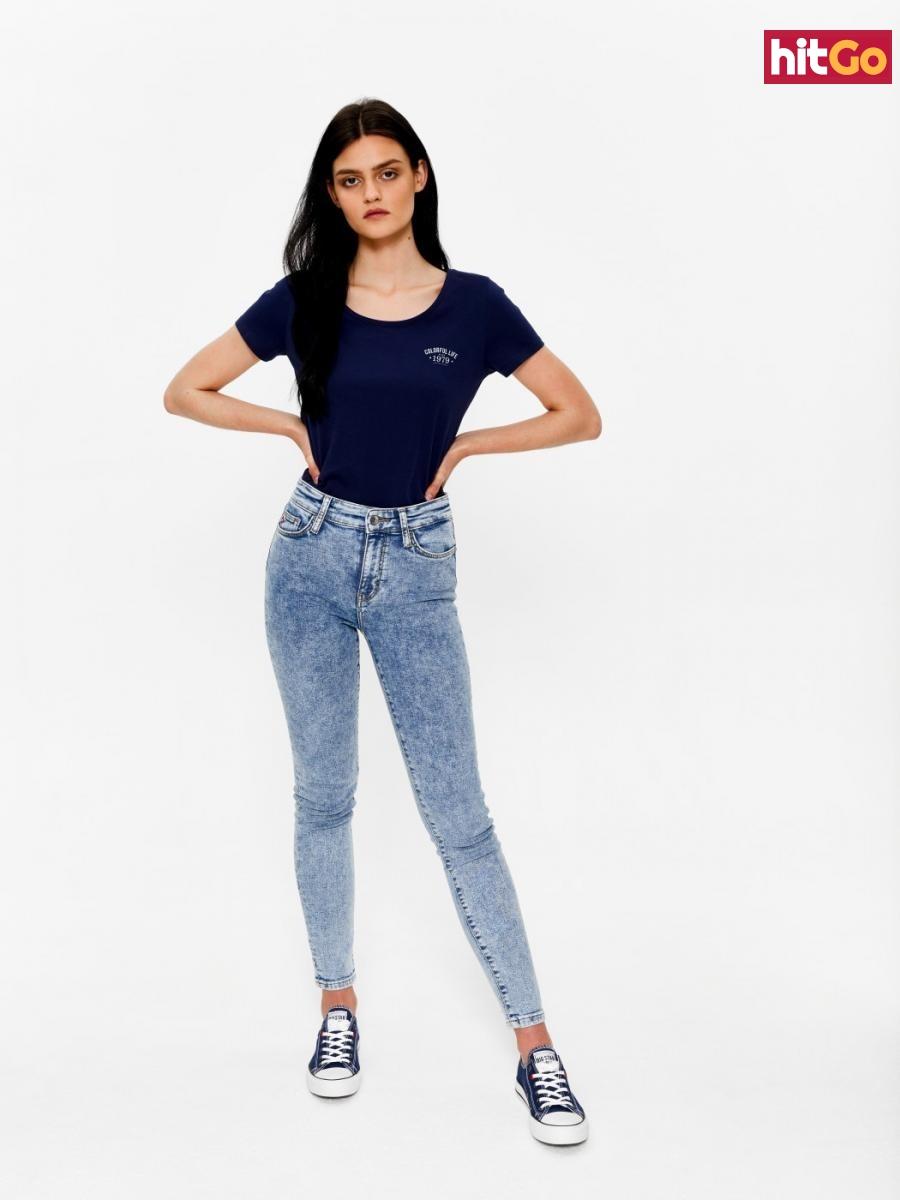 Big Star Womans Shortsleeve T-shirt 158788 Navy Blue-490 dámské M