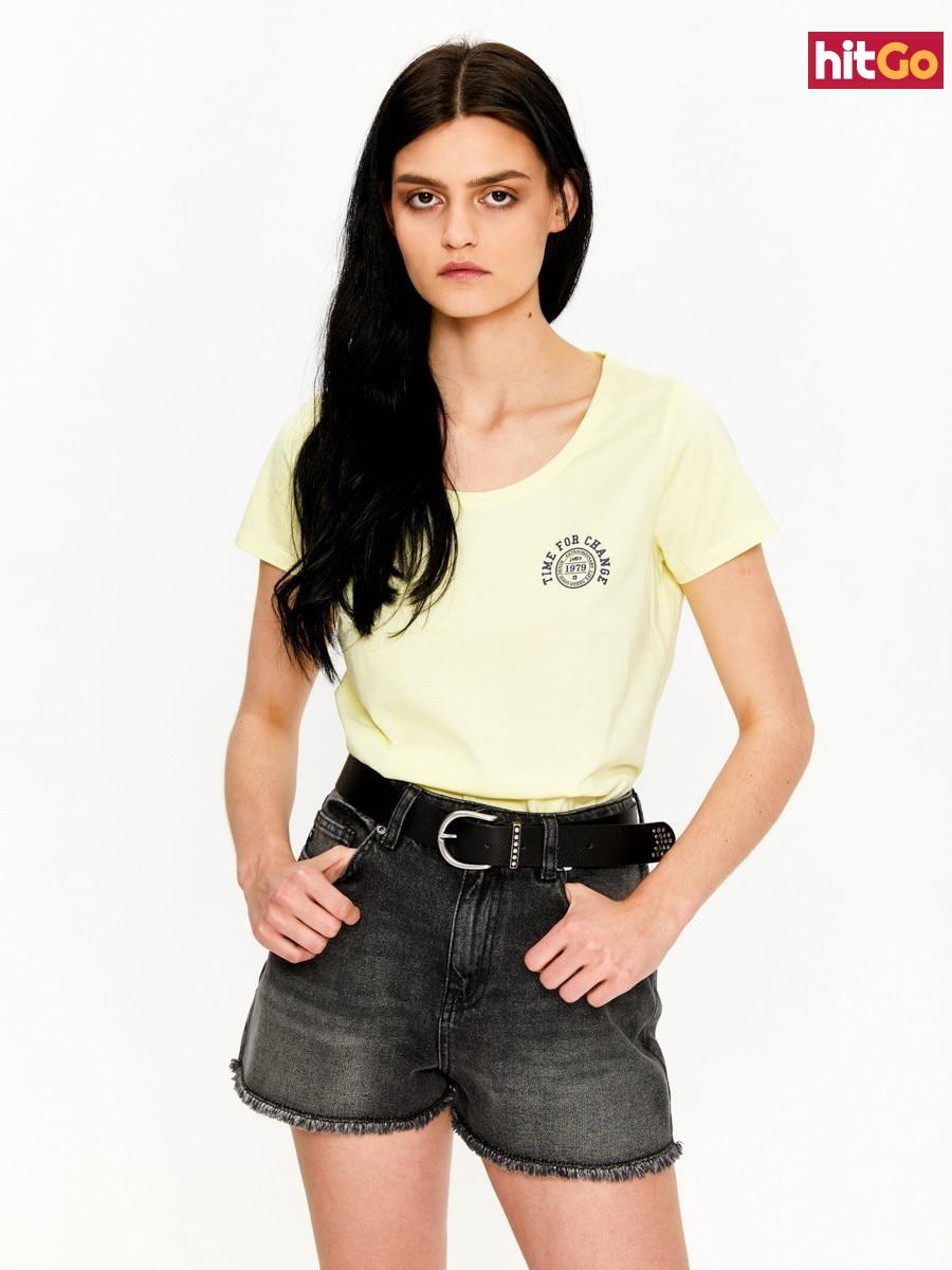 Big Star Womans Shortsleeve T-shirt 158789 -238 dámské Light Yellow S
