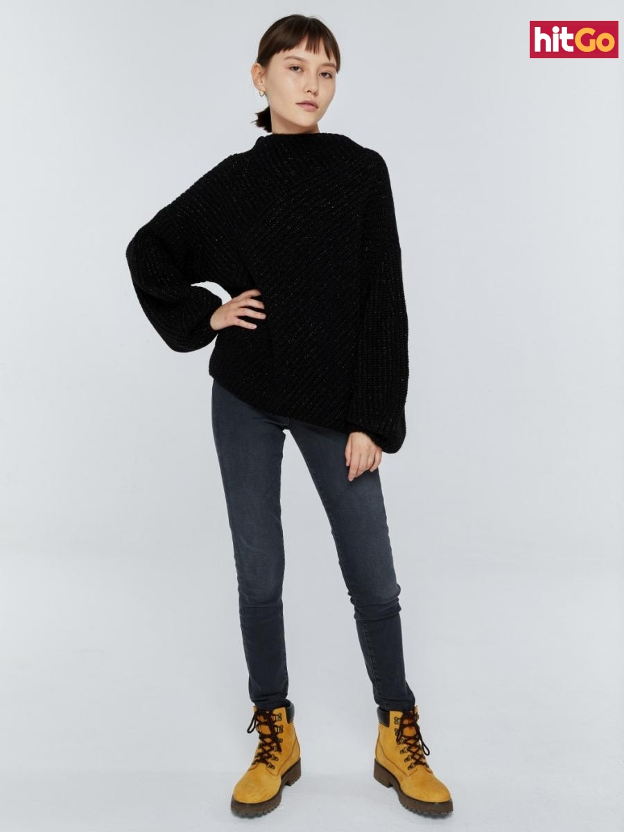 Big Star Womans Sweater 161987 -906 dámské Black S