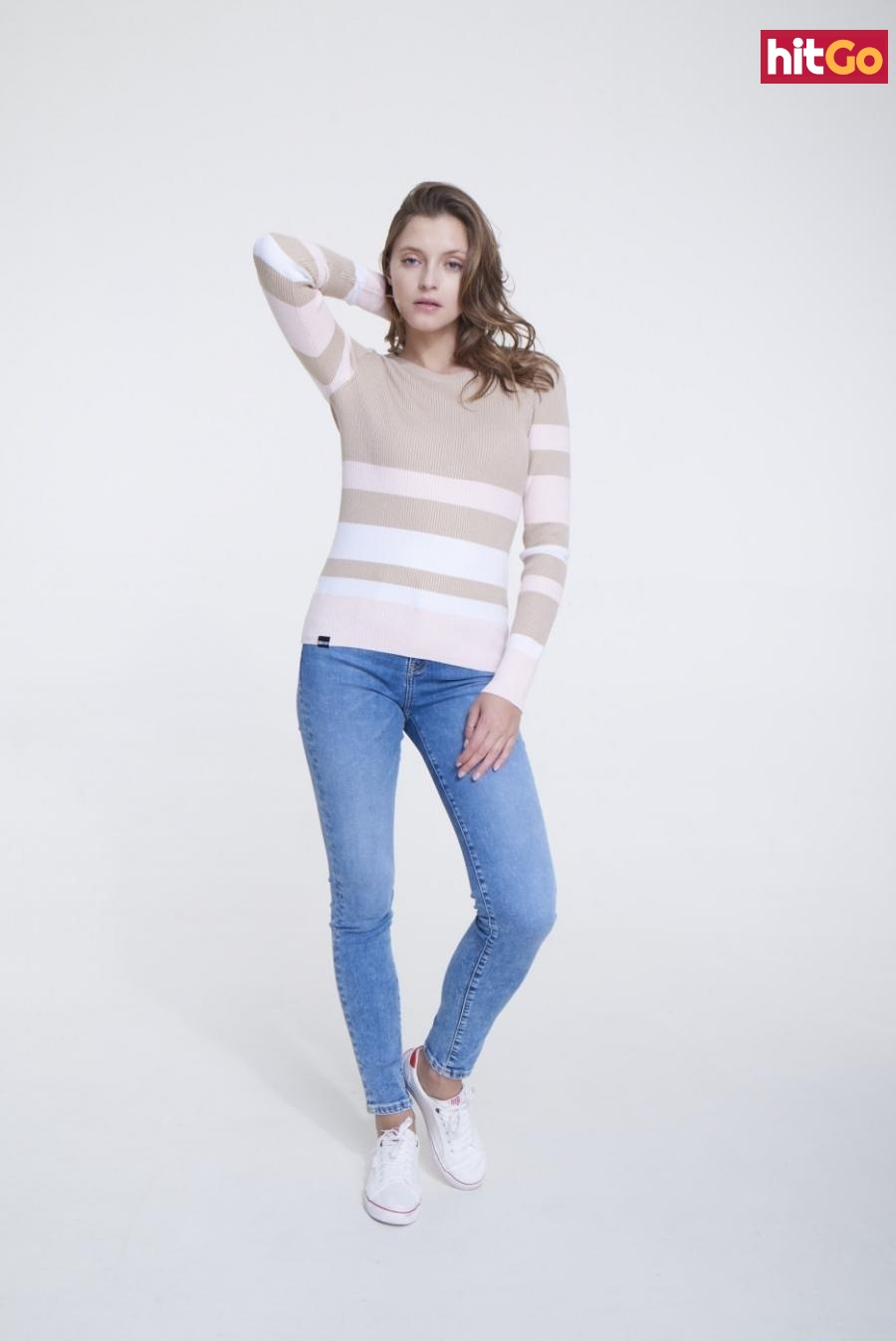 Big Star Womans Sweater 161998 Multicolour-0 dámské wzorzysty S
