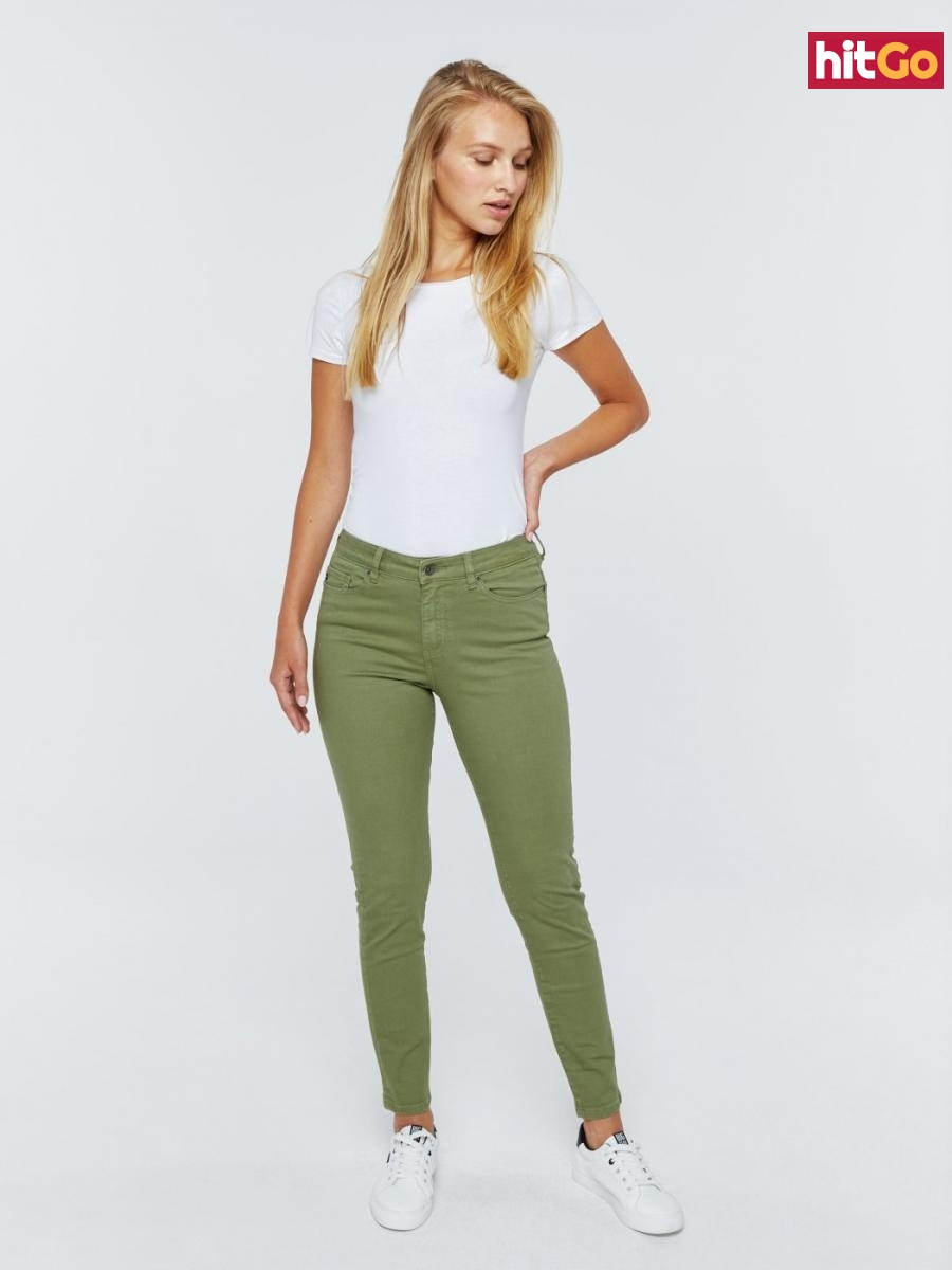 Big Star Womans Trousers 115490 -301 dámské Medium Jeans W26 L32