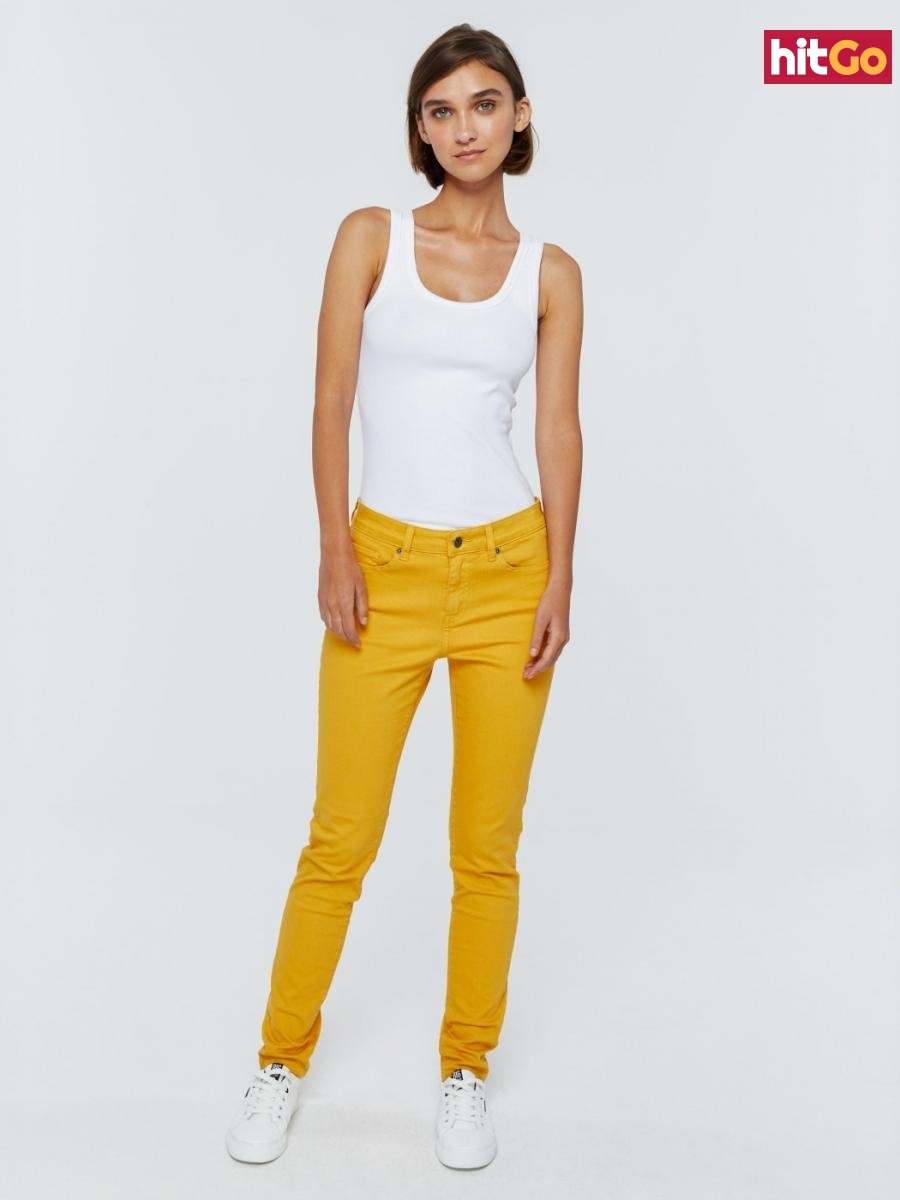 Big Star Womans Trousers 115490 Light Jeans-202 dámské Blue W27 L30