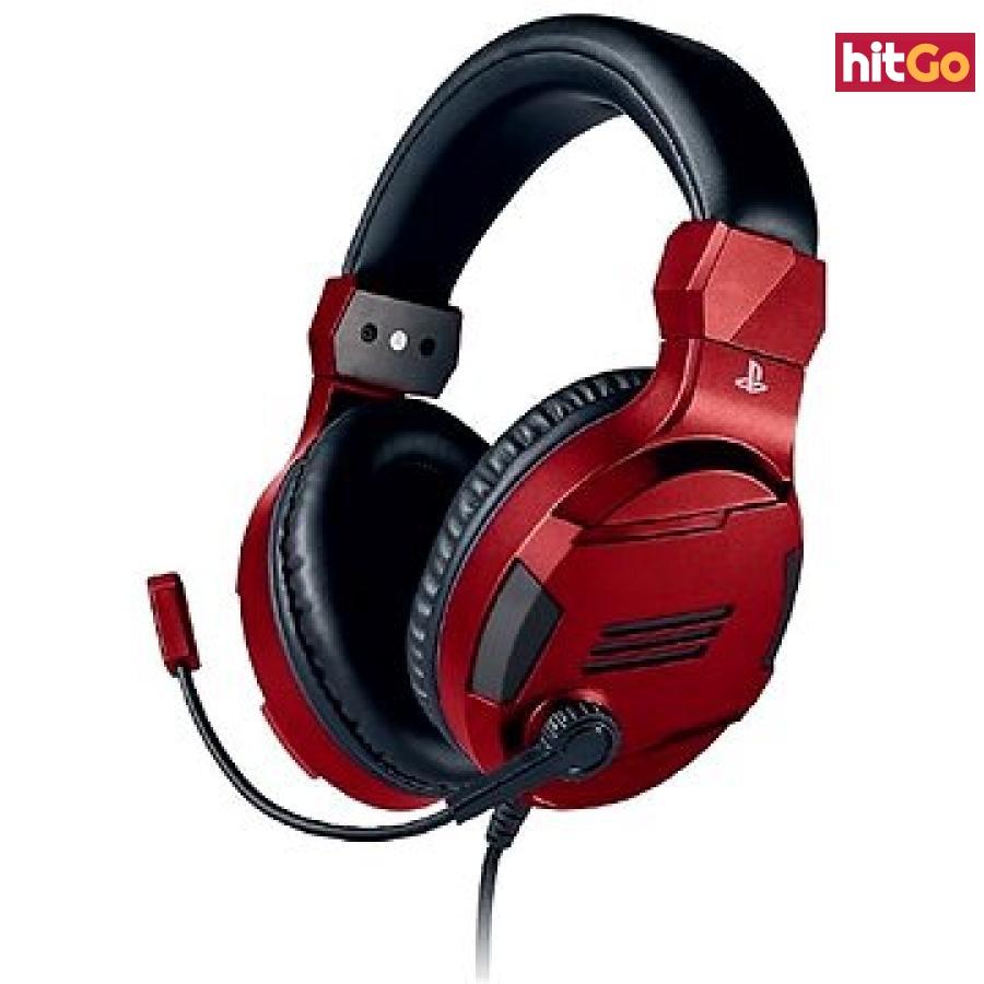 BigBen PS4 Stereo-Headset v3 - červený