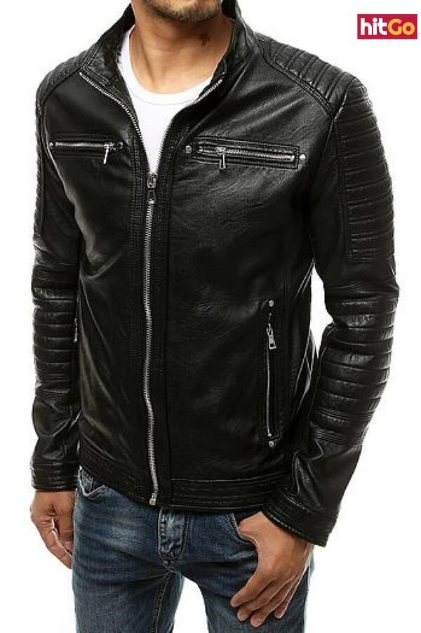 Black mens leather jacket TX3505 pánské Neurčeno 3XL