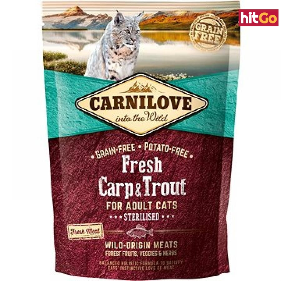 Carnilove fresh carp & trout sterilised for adult cats 400 g