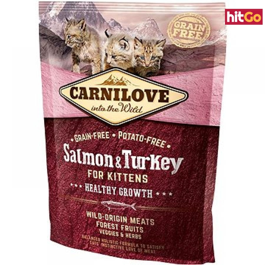 Carnilove salmon & turkey for kittens – healthy growth 400 g