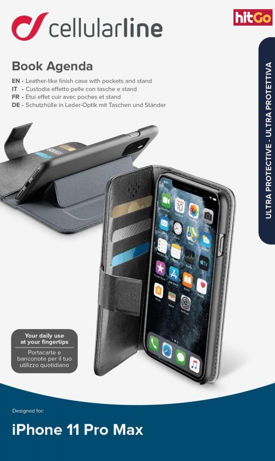 CellularLine Book Agenda flipové pouzdro pro Apple iPhone 11 Pro Max, černá