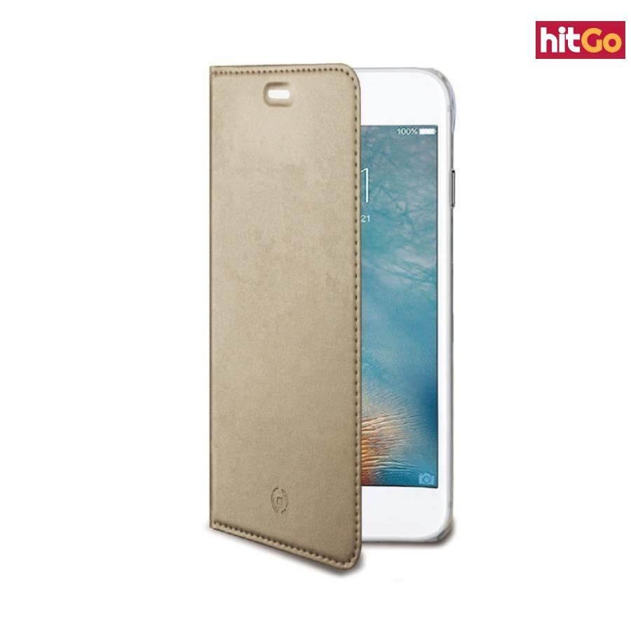 CELLY Air Ultra tenké flipové pouzdro Apple iPhone 7 Plus zlaté