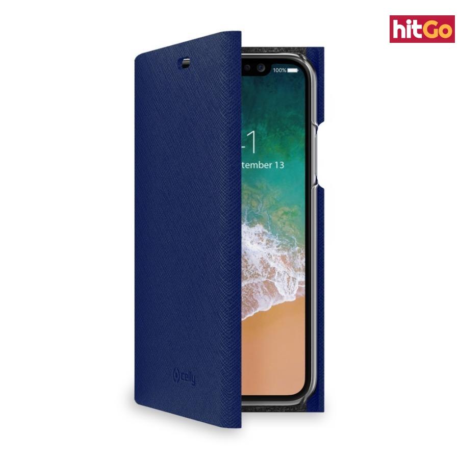 CELLY Shell flipové pouzdro Apple iPhone X blue
