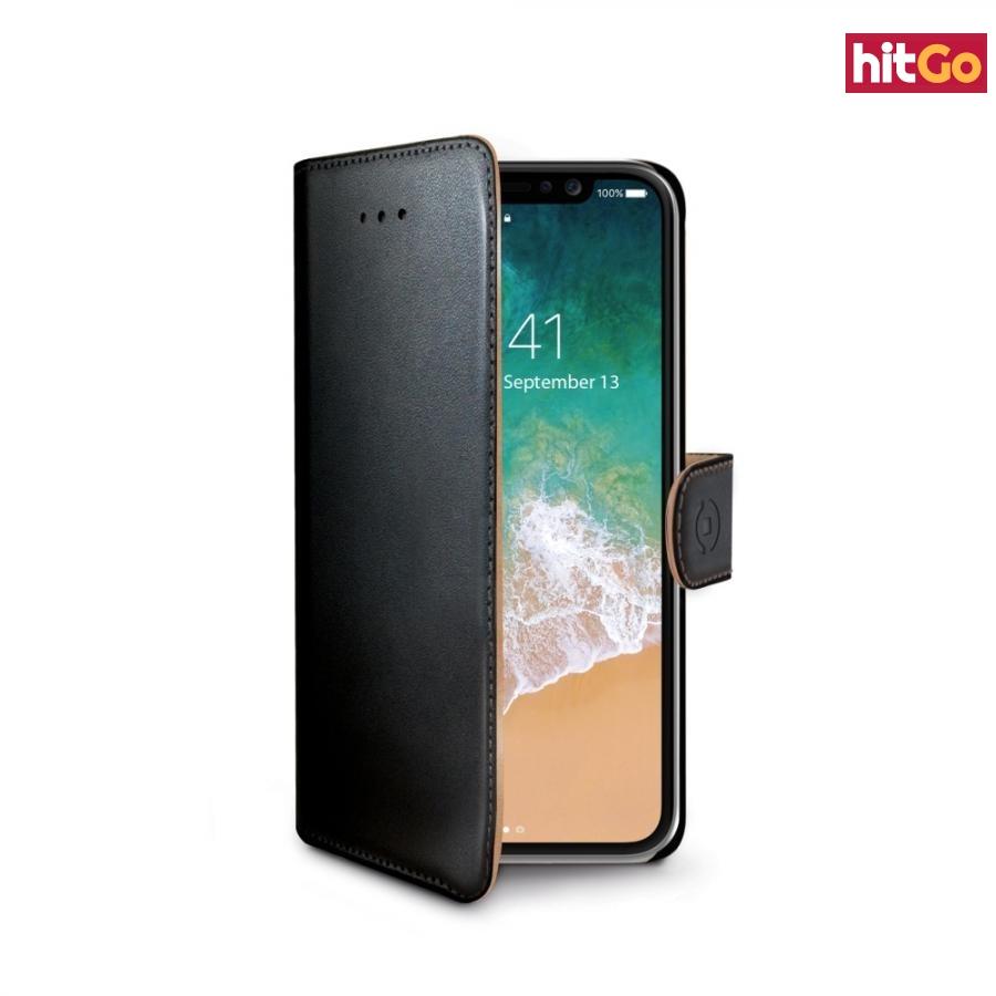 CELLY Wally flipové pouzdro pro Apple iPhone X/XS černé