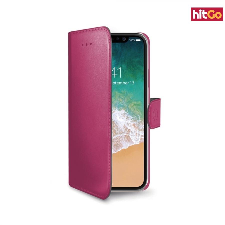 CELLY Wally flipové pouzdro pro Apple iPhone X/XS pink