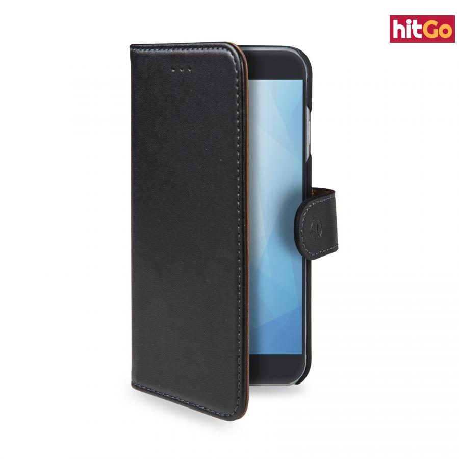 CELLY Wally flipové pouzdro pro Nokia 3.1/Nokia 3 , PU kůže, black