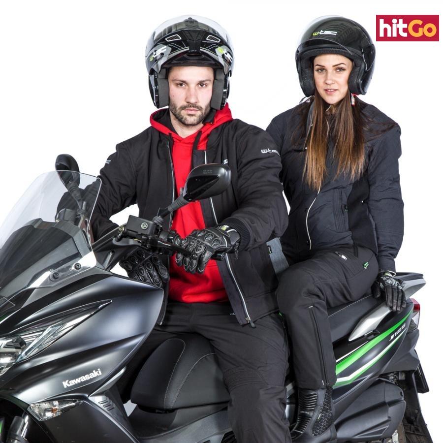 Dámské Kožené Moto Rukavice W-Tec Polcique Nf-4206  Černo-Bílá  L L