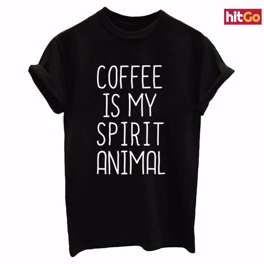 Dámské tričko pro milovnice kávy - 3 barvy Barva: černá, Velikost: XL