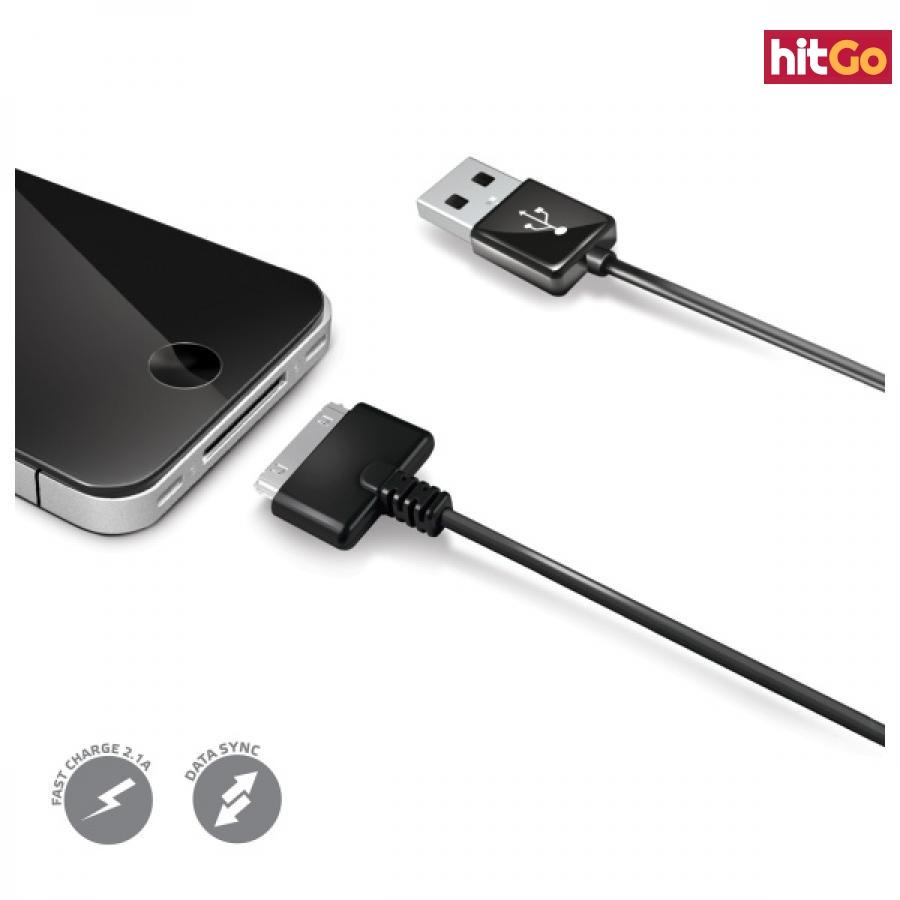 Datový kabel CELLY pro Apple iPhone 30-pin konektor černý