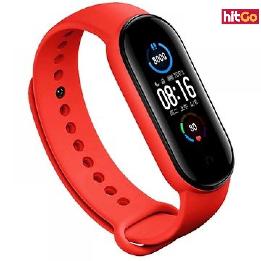 Epico Silicone Strap Xiaomi Mi Band 5 - červený