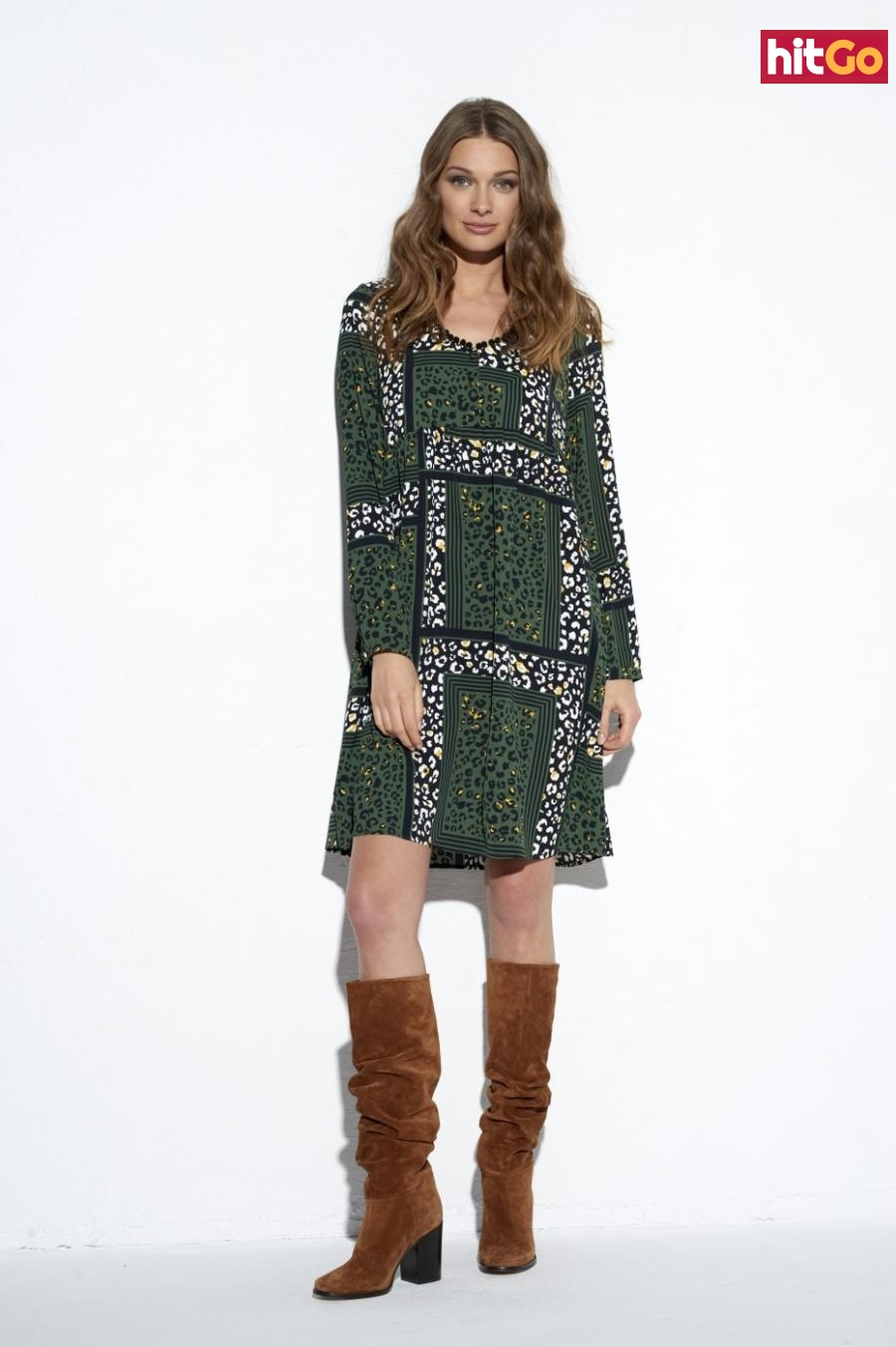 Ezuri Womans Dress 5546 Multicolour dámské wzorzysty 42