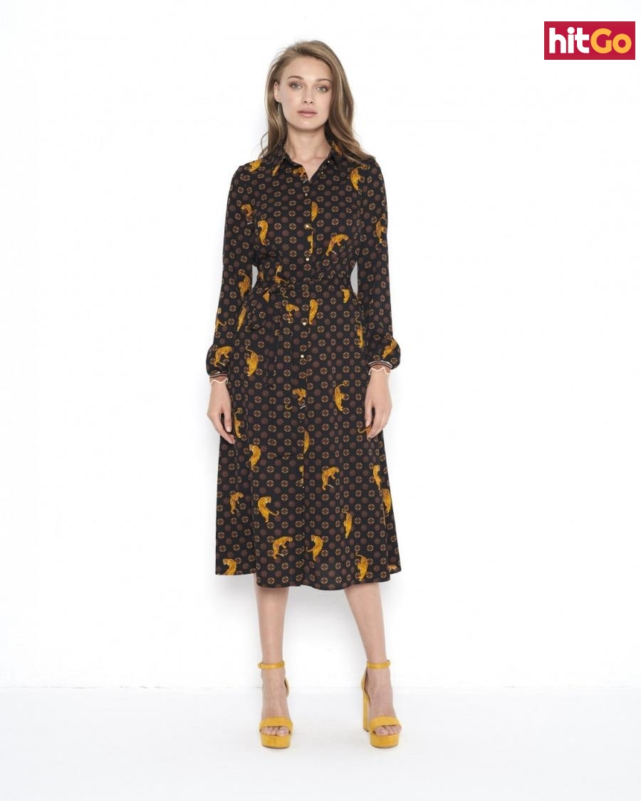 Ezuri Womans Dress 5655 dámské Brown 38