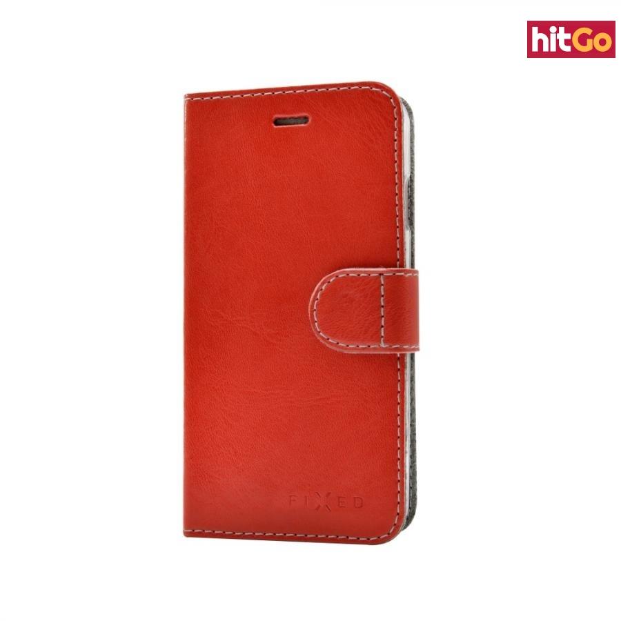 FIXED FIT flipové pouzdro pro Apple iPhone 5/5s/SE červené