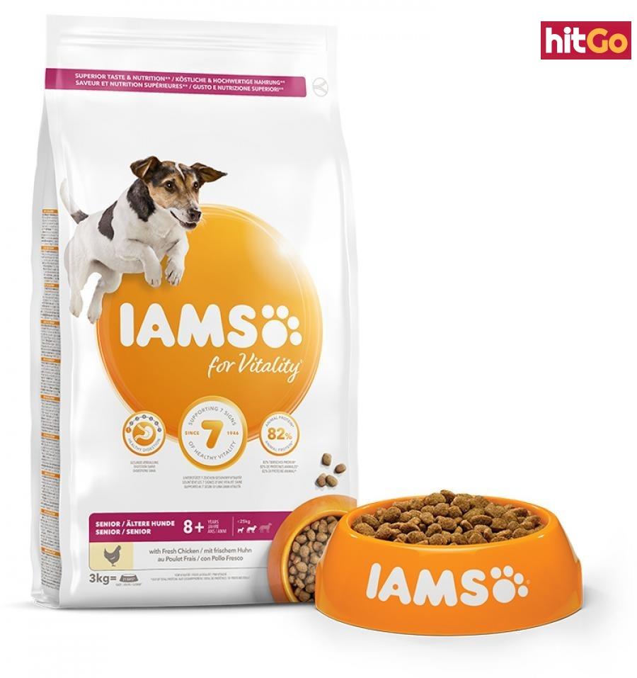 Iams dog senior small & medium chicken 3kg