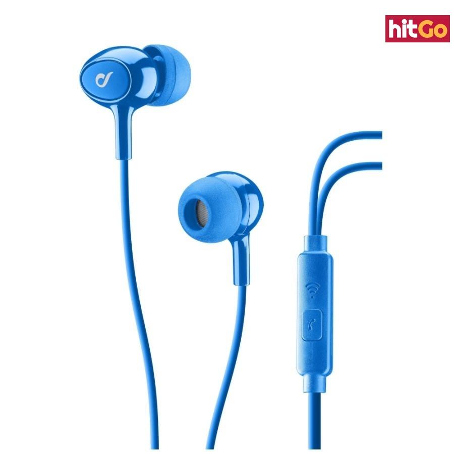 In-ear sluchátka CELLULARLINE ACOUSTIC 3,5 mm jack blue
