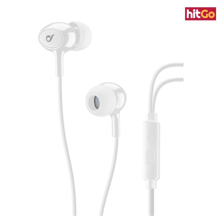 In-ear sluchátka CELLULARLINE ACOUSTIC 3,5 mm jack white