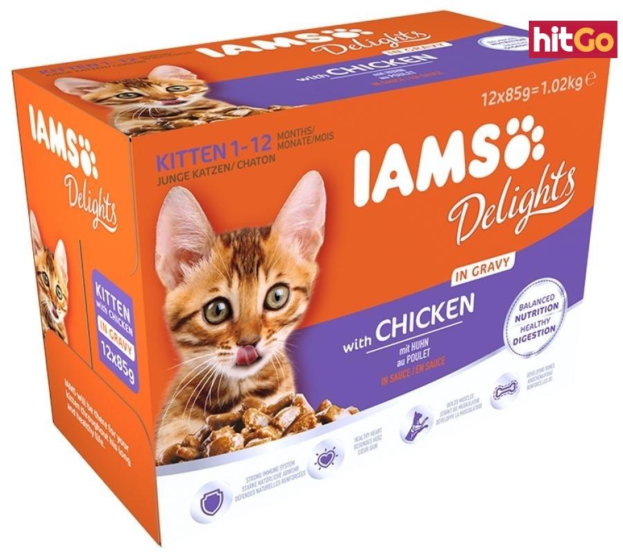Kapsička iams pro koťata v omáčce 1020g