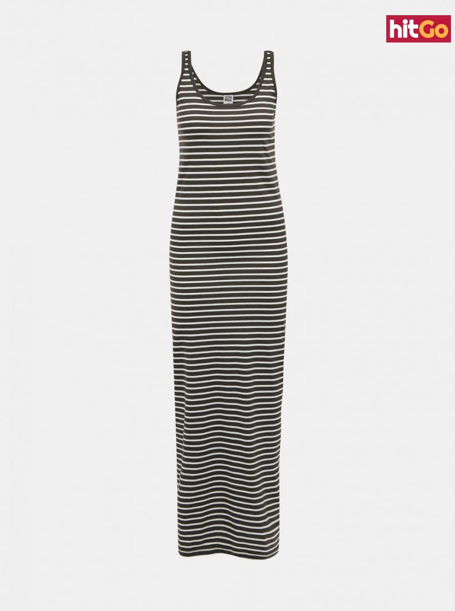 Khaki striped basic maxisat VERO MODA dámské L