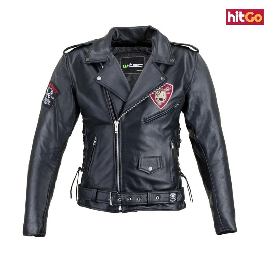 Kožená Moto Bunda W-Tec Black Heart Perfectis  Černá  5Xl 5XL