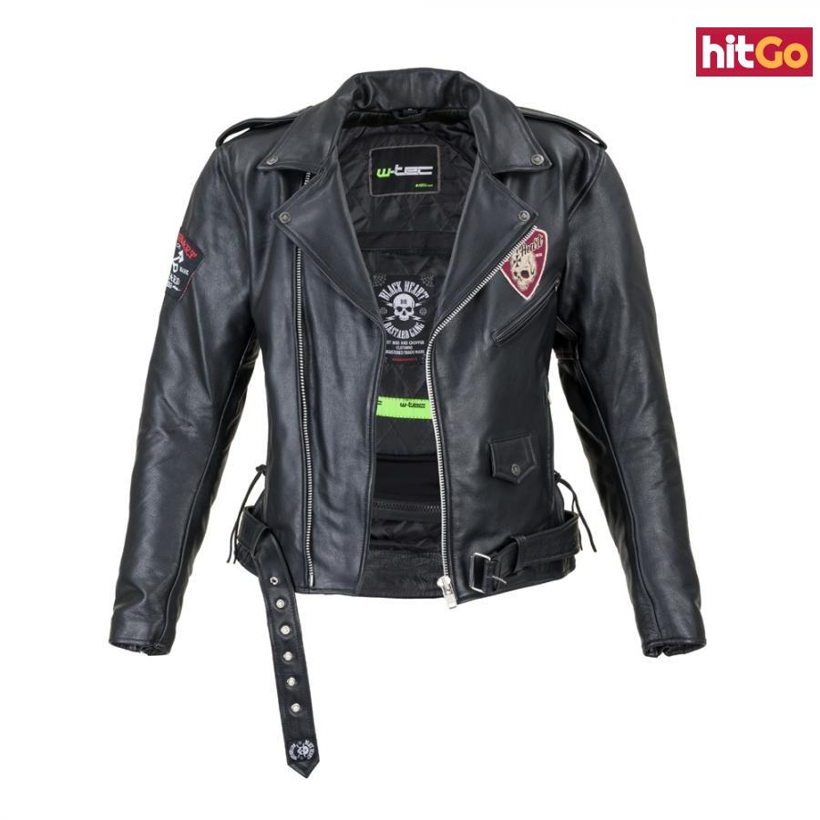 Kožená Moto Bunda W-Tec Black Heart Perfectis  Černá  M M