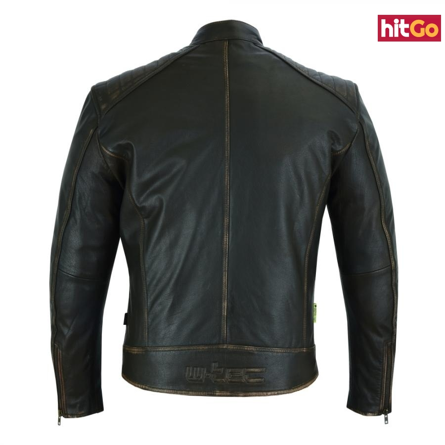Kožená Moto Bunda W-Tec Embracer  3Xl  Vintage Dark Brown 3XL