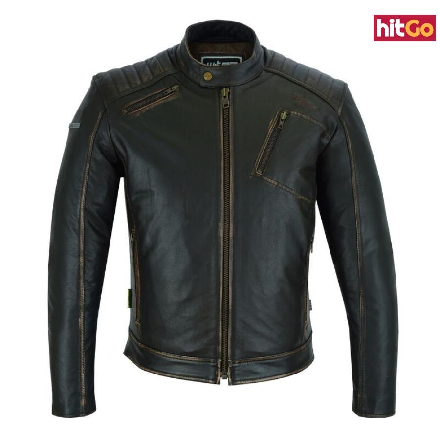 Kožená Moto Bunda W-Tec Embracer  Vintage Dark Brown  M M