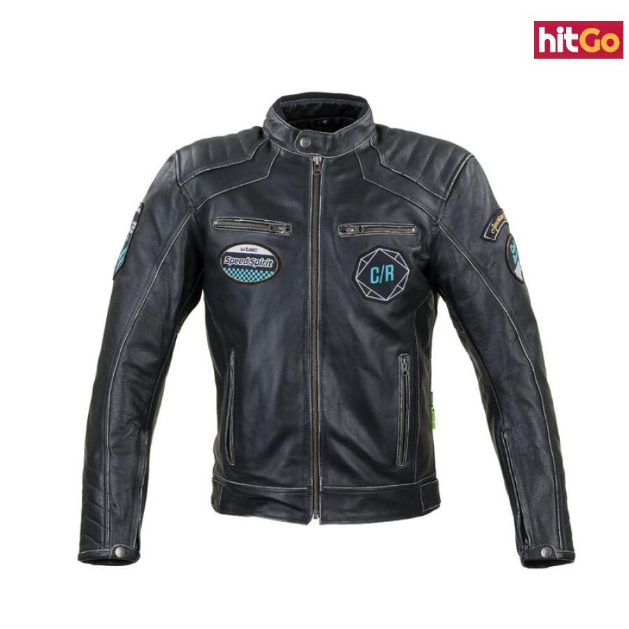 Kožená Moto Bunda W-Tec Losial  Černá  6Xl 6XL