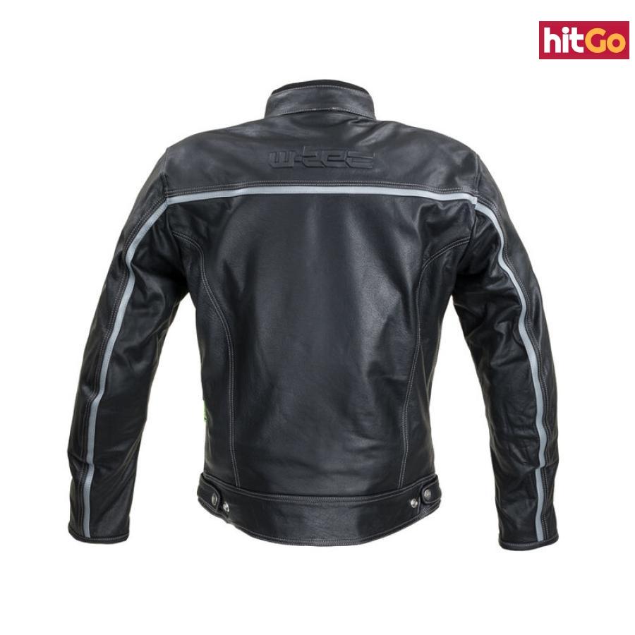 Kožená Moto Bunda W-Tec Mathal  Černá  5Xl 5XL