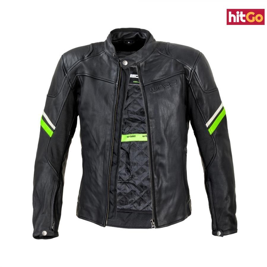 Kožená Moto Bunda W-Tec Montegi  Matně Černá  5Xl 5XL