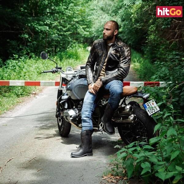 Kožená Moto Bunda W-Tec Mungelli  Vintage Hnědá  4Xl 4XL