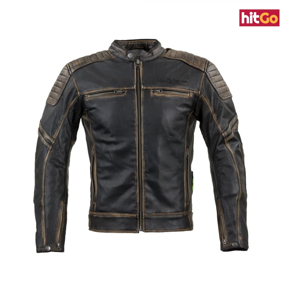 Kožená Moto Bunda W-Tec Mungelli  Vintage Hnědá  L L