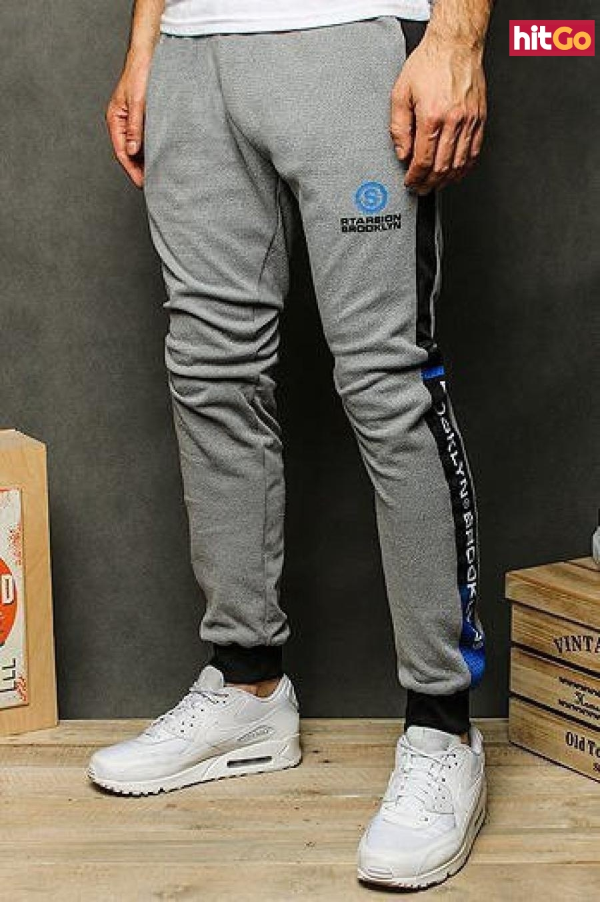 Light gray mens sweatpants UX2532 pánské Neurčeno XL