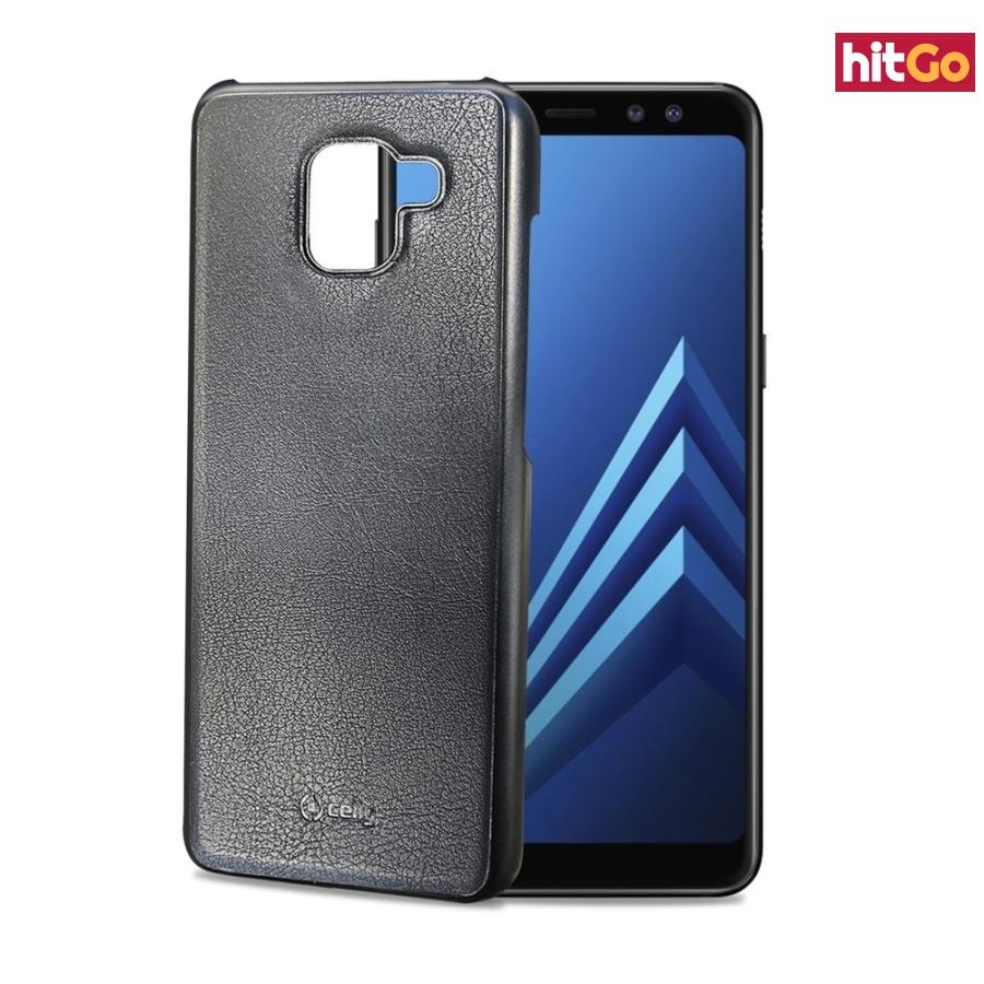 Magnetické pouzdro Celly Ghostcover pro Samsung Galaxy A8 Plus  černé