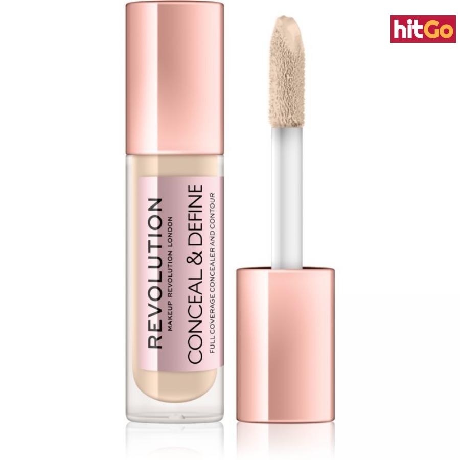 Makeup Revolution Conceal & Define tekutý korektor odstín C0,7 4 g dámské 4 g