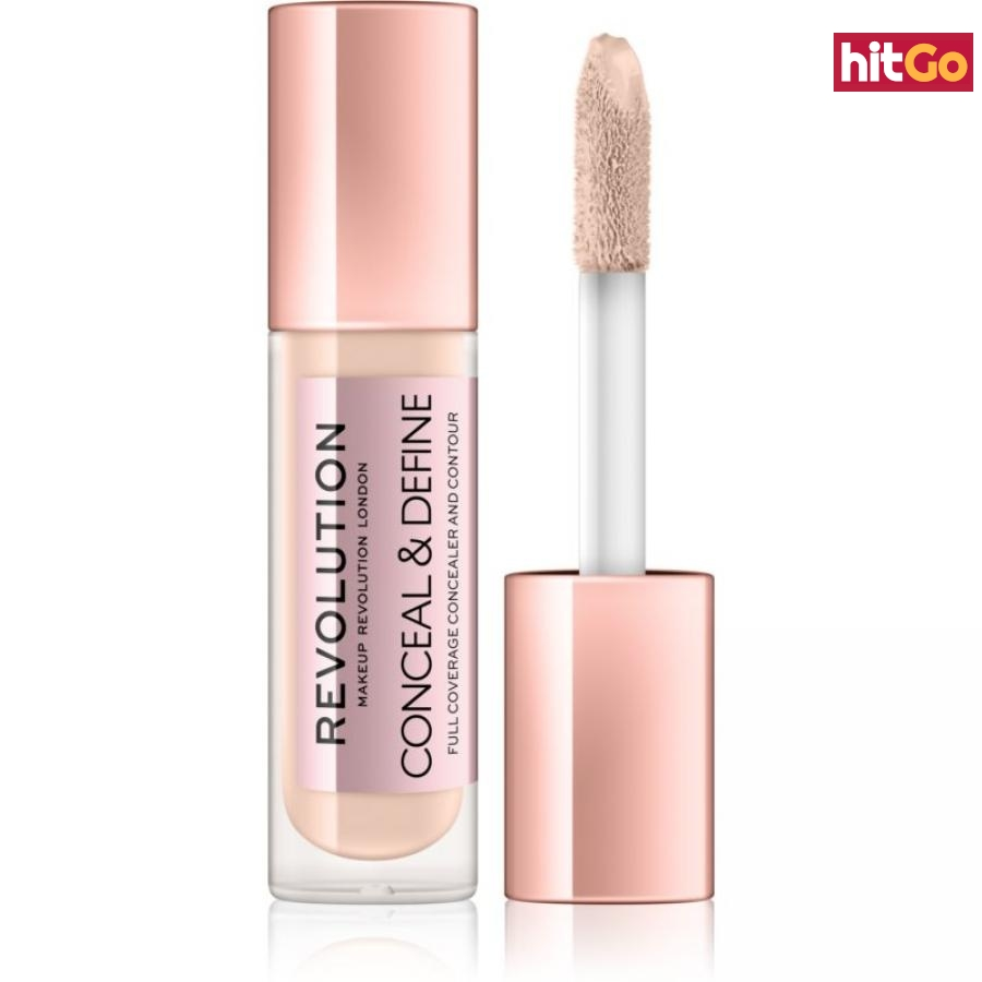Makeup Revolution Conceal & Define tekutý korektor odstín C3.5 4 g dámské 4 g