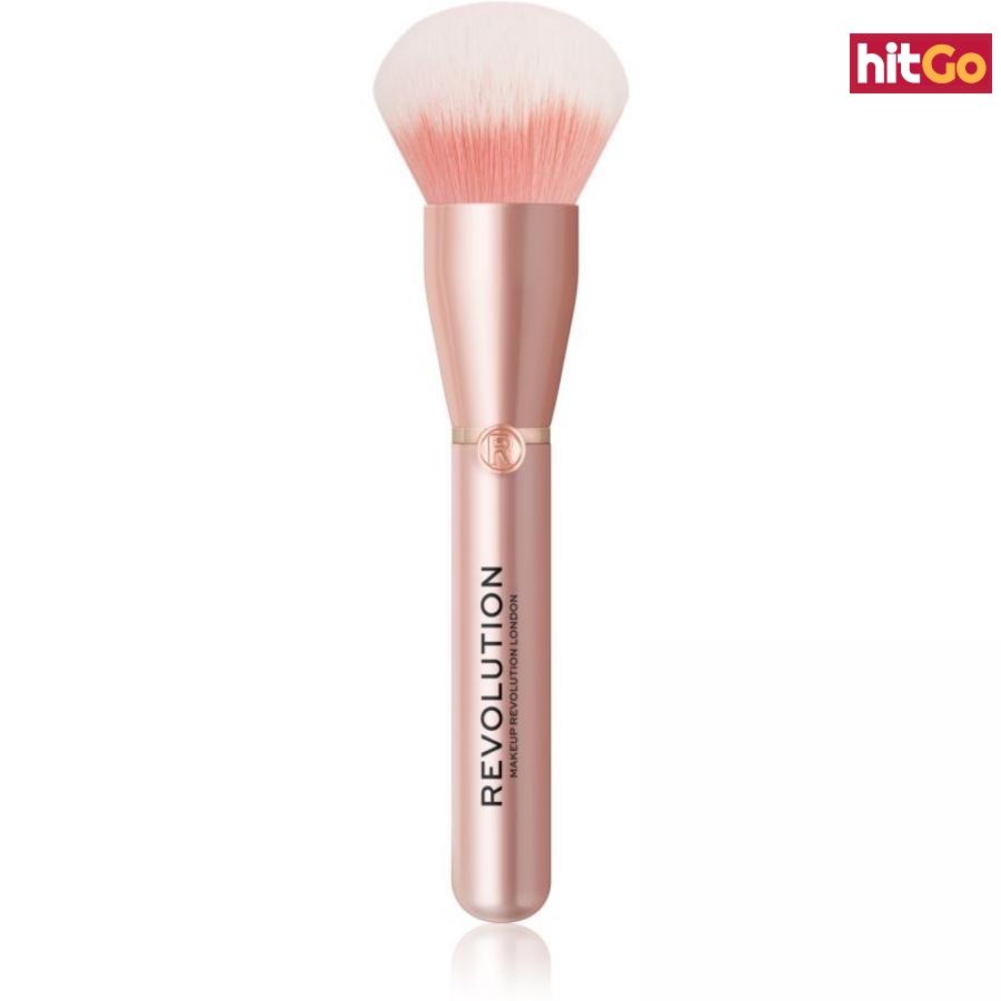 Makeup Revolution Create velký štětec na pudr suchý nebo práškový R12 dámské