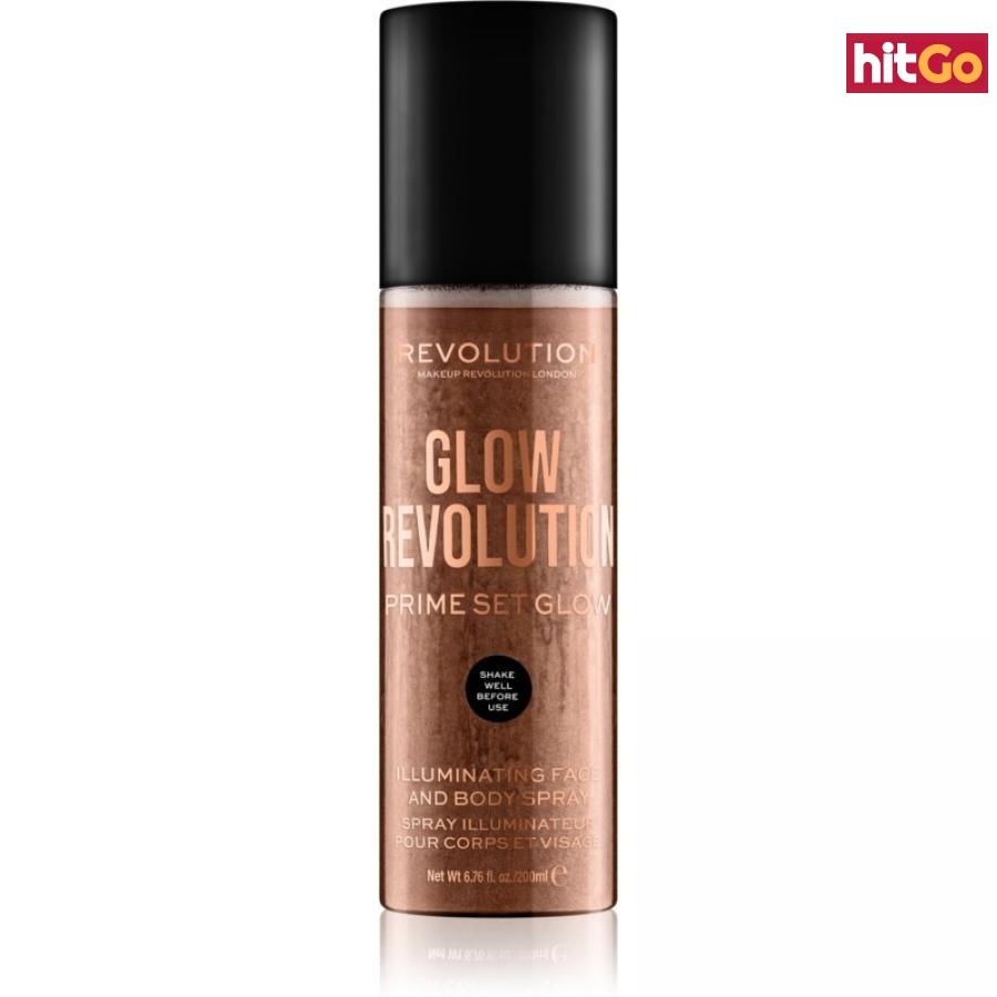 Makeup Revolution Glow Revolution rozjasňující sprej na obličej a tělo odstín Timeless Bronze 200 ml dámské 200 ml