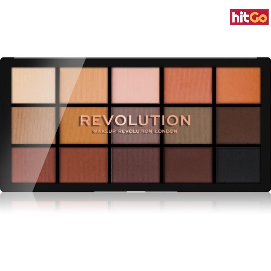 Makeup Revolution Reloaded paleta očních stínů odstín Basic Mattes 15 x 1,1 g dámské 15 x 1,1 g