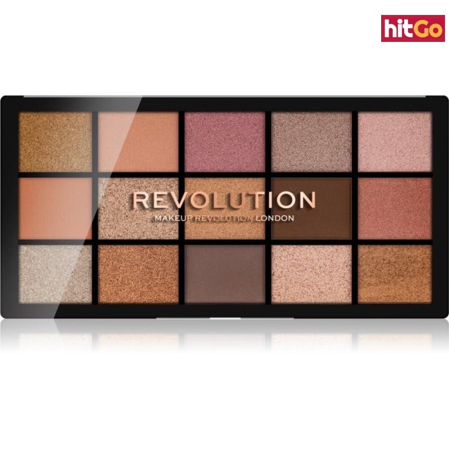 Makeup Revolution Reloaded paleta očních stínů odstín Fundamental 15 x 1,1 g dámské 15 x 1,1 g