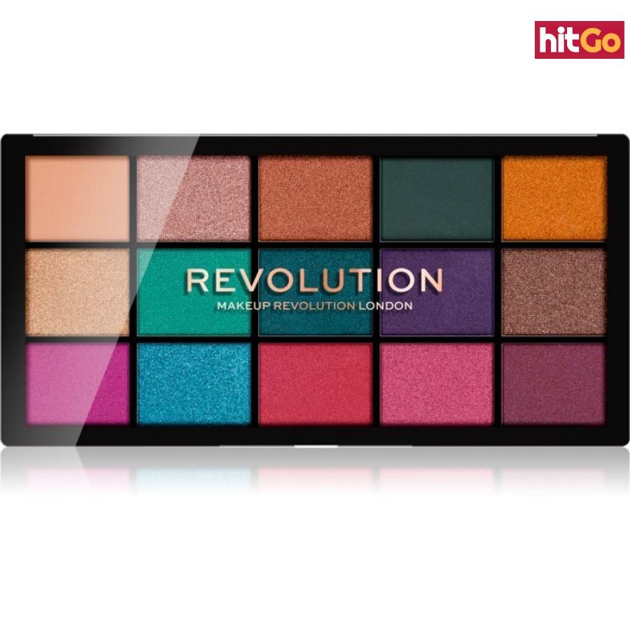 Makeup Revolution Reloaded paleta očních stínů odstín Jewelled 15 x 1,1 g dámské 15 x 1,1 g