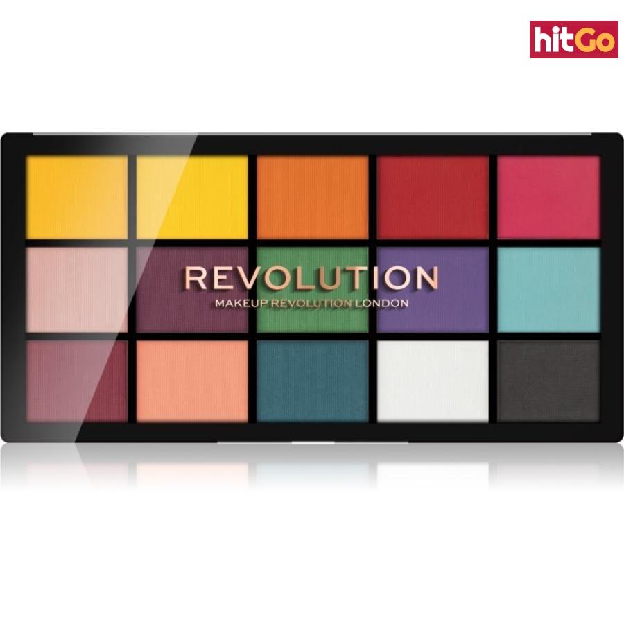 Makeup Revolution Reloaded paleta očních stínů odstín Marvellous Mattes 15 x 1,1 g dámské 15 x 1,1 g